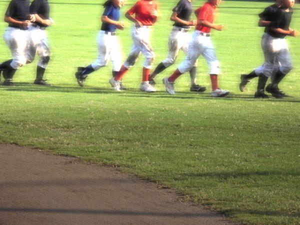 ランニング、運動部、野球部