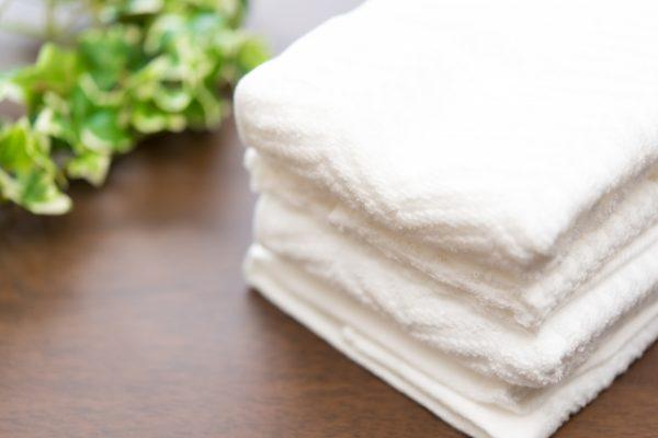 清潔なタオル、洗濯