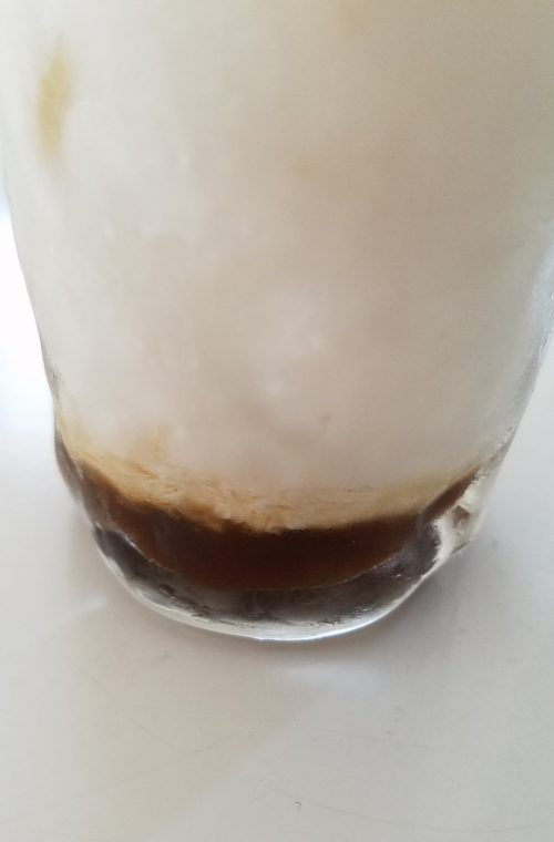 養命酒製造の黒酢、牛乳割り