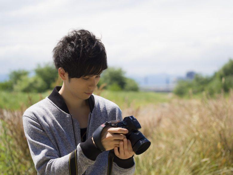 男性、カメラ、さわやか、イケメン