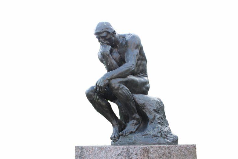 ロダン、考える人、ブロンズ像