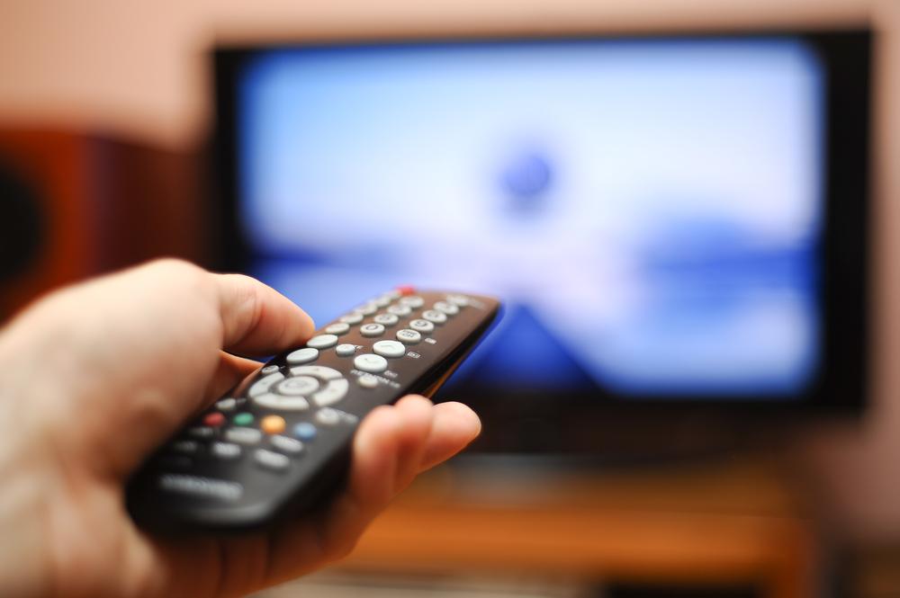 テレビ、テレビニュース、リモコン、報道
