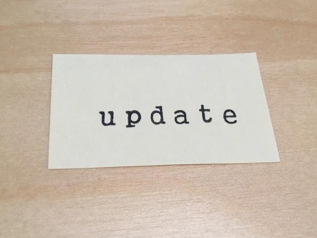 更新、アップデート、UPDATE