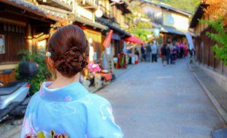 京都、着物、観光、坂