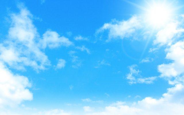 青空、快晴、青い、雲