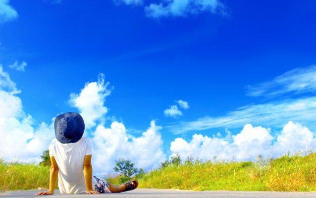 快晴、雲、草、自然