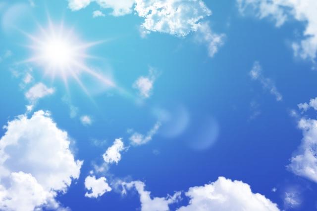 快晴、青空、天気