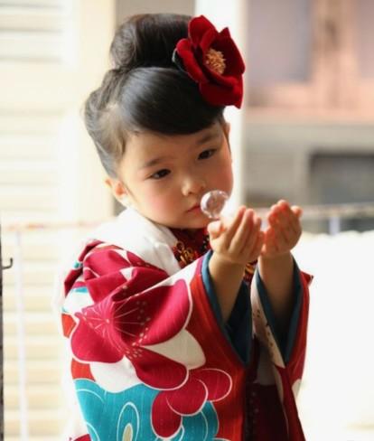 七五三、着物、髪型参考、七五三女の子髪型、かんざし、日本髪、お団子