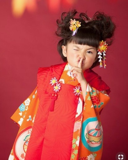 七五三、髪型参考、着物、七五三女の子髪型、かんざし、日本髪、お団子