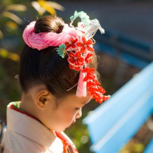 七五三、髪型参考、七五三女の子髪型、かんざし、日本髪、お団子