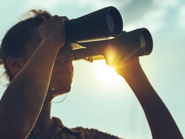 探す、望遠鏡、捜索、探検