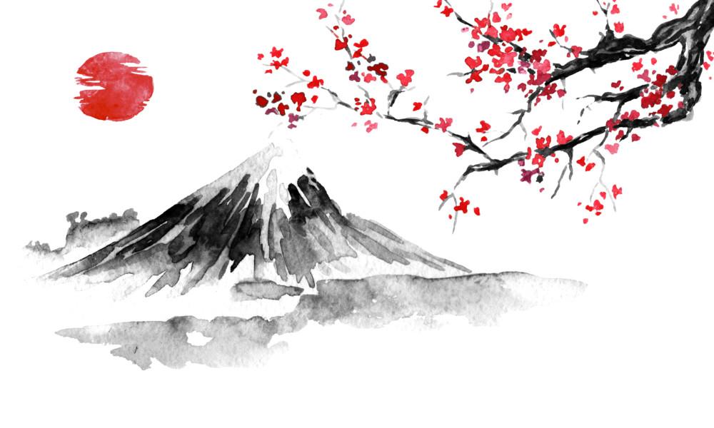 日本、日の出、初日の出