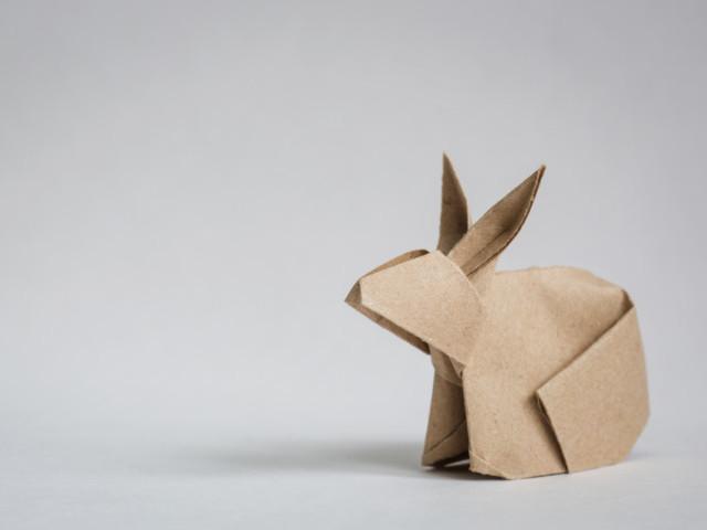 紙兎、うさぎ、ウサギ、折り紙